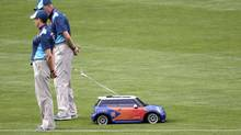 BMW's mini Mini has managed to outmanoeuvre the branding rules at the London Games. (MAX ROSSI/REUTERS)