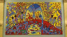 Androgyny, a work by Norval Morriseau (Sgt Serge Gouin, Rideau Hall/Sgt Serge Gouin, Rideau Hall)
