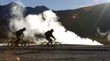 Riding by the El Tatio Geysers at 4000m, Atacama Desert, Chile (Patrice Halley)