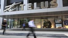 Telus logo. (Gloria Nieto/The Globe and Mail)