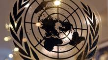 The United Nations seal is shown at the world organization's headquarters in New York. (STAN HONDA/AFP/GETTY IMAGES)
