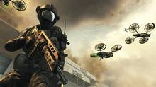 Call of Duty checklist: You're in control of American soldiers, they spout lots of incomprehensible military jargon and curse like sailors, buildings are exploding and toppling around you in huge set pieces, and the main shooting action broken up by parts where you sit in a turret. (Activision)