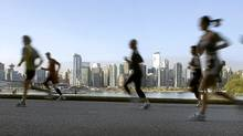 Competitors in the 37th annual Vancouver Marathon run through Stanley Park in 2008. (Andy Clark/Reuters/Andy Clark/Reuters)