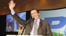 Manitoba PC leader Hugh McFadyen waves to his supporters after losing to the NDP in the Manitoba provincial election Tuesday May 22/07. (CP/John Woods/CP/John Woods)