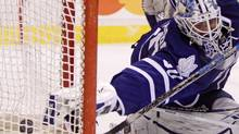 Maple Leafs' Jonas Gustavsson is one of six Toronto goaltenders who could see preseason action. THE CANADIAN PRESS/Darryl Dyck (DARRYL DYCK)