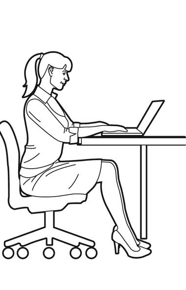 Want a totally inconspicuous way to work your lower body while sitting at your desk? Try doing quad-hamstring-glute squeezes. While sitting at your desk, simply engage your quads (front of thighs), hamstrings (back of thighs) and glutes (bum). Squeeze and release 25 times. (Trish McAlaster)