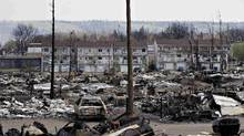 The Abasand neighbourhood on the west side of Fort McMurray is seen on May 13 after being ravaged by wildfires. (Jason Franson/REUTERS)