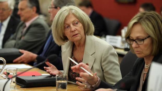 """Conservative Senator Carolyn Stewart Olsen, attends a Senate committee hearing on Parliament Hill May 28, 2013 in Ottawa. The Senate Standing Committee on National Security and Defence, led by senators Daniel Lang and Stewart-Olsen issued an interim report Wednesday on its study of """"security threats facing Canada."""" (Dave Chan For The Globe and Mail)"""