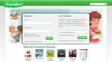 A screenshot of Friendster's new home page, which is being relaunched as a gaming site (friendster.com)