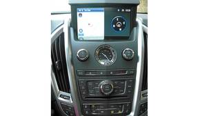 Centre console in the 2012 Cadillac SRX.
