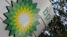 A sign for a BP petrol station is seen in London October 27, 2008. (TOBY MELVILLE/REUTERS)