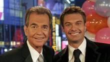 Dick Clark posing with Ryan Seacrest, Dec. 31, 2006. (ABC News)