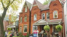 Th house at 214 Pape Avenue in Toronto has an open house on October 14, 2012. (JENNIFER ROBERTS For The Globe and Mail)