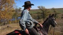 Rancher Thomas Ketelsen on horseback (SUPPLIED)