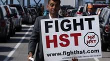 Local anti-HST organizer Eddie Petrossian in Tsawwassen, B.C., on Wednesday June 30, 2010. (Darryl Dyck/ The Canadian Press/Darryl Dyck/ The Canadian Press)