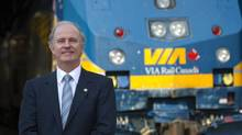 Marc Laliberte, CEO of VIA Rail Canada is photographed at Union Station in Toronto, Sept. 13, 2012. (Kevin Van Paassen/The Globe and Mail)