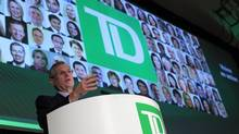 Ed Clark , CEO of TD Bank delivers his address during the company annual general meeting April 4, 2013 in Ottawa. (Dave Chan For The Globe and Mail)