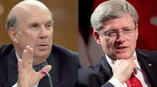 Marc Nadon (L) and Stephen Harper (The Canadian Press)