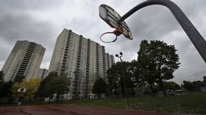 Various photos taken Oct 20 2011 of the basketball court at Dixon park located at 350 Dixon Rd. in the northwest part of Toronto.(Fred Lum/The Globe and Mail)