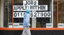 In October, the jobless rate in Britain was reported at 8.1 per cent, the highest in 17 years – further evidence that the recovery is stalling. Youth unemployment has surpassed one million, the highest since the early 1990s. (Darren Staples/Reuters/Darren Staples/Reuters)
