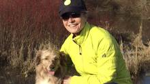 Dr. Lyn Pascoe and her dog, Austin, one of three dogs that died recently after wading in Quamichan Lake. (Courtesy of Lyn Pascoe)