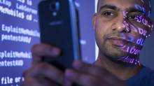 Saurabh Harit says smartphone users should lock their devices with strong passwords to protect their information. (John Lehmann/The Globe and Mail)