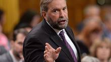 NDP Leader Tom Mulcair asks a question during question period in the House of Commons Monday, Sept. 15, 2014 in Ottawa. THE CANADIAN PRESS/Sean Kilpatrick