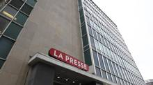 The La Presse headquarters in Montreal. (Christinne Muschi For The Globe and Mail)