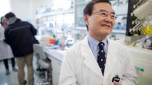Immunologist Chil-Yong Kang speaks after an announcement of the successful completion of phase 1 clinical trials of his preventative HIV vaccine in on Nov. 6, 2012. Sumagen Co., the South Korean biotech firm sponsoring the vaccine, says it won't be commercially available for several years. (GEOFF ROBINS/THE CANADIAN PRESS)