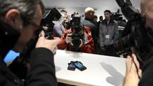 BlackBerry's Z10 is launched in Toronto Feb. 5, 2013. (Fred Lum/The Globe and Mail)