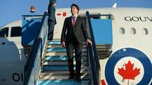 Prime Minister Justin Trudeau arrives in Antalya, Turkey, on Saturday, Nov. 14, 2015, to take part in the G20 Summit. (Sean Kilpatrick/THE CANADIAN PRESS)
