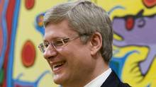 Prime Minister Stephen Harper smiles during a swearing-in ceremony at Rideau Hall in Ottawa, Wednesday May 18, 2011. (Adrian Wyld/THE CANADIAN PRESS)