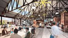 The restored historic kiln building at Evergreen Brick Works will be a showcase for green design and gathering place for interactive workshops, community programs and events that focus on working collaboratively to create flourishing cities of the future. (LGA Architectural Partners)