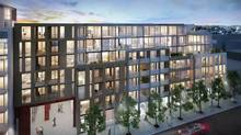 Twenty will have retail spots facing inward toward a central row in the master-planned project at Queen and Duffering.