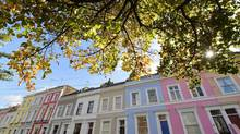 Notting Hill in central London. Prices in the city are more than twice of those in the rest of Britain. (TOBY MELVILLE/REUTERS)