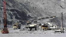 A general view of the Kumtor mine in Kyrgyzstan May 31, 2011. (VLADIMIR PIROGOV/REUTERS)