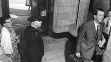 Former central bank governor James Coyne, shown entering the Parliament buildings in 1961, was unafraid to venture into terrain that had little to do with interest rates. (The Canadian Press)
