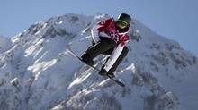 Mark McMorris during his second run on the snowboard slopestyle course February 6, 2014. McMorris failed to qualify and has another attempt Saturday. (John Lehmann/The Globe and Mail)