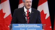 Prime Minister Stephen Harper, shown Aug. 4, 2014, has so far stuck by the legislated date of Oct. 19, 2015, for the next federal election. (FRED CHARTRAND/THE CANADIAN PRESS)