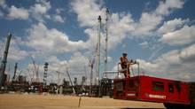 Shell's Scotford upgrader at Fort Saskatchewan, Alta. (Nathan VanderKlippe/The Globe and Mail)