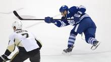 Injured Leafs forward Dave Bolland, who has not played since Nov. 2, still needs to visit the doctor for final clearance to get back onto the ice. (Peter Power/The Globe and Mail)