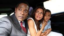 "Blair Underwood, Lisa Vidal and Sayeed Shahidi in a scene from an episode of ""The Event"" (handout)"