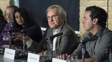 Stephen Lewis was among the NDP supporters who introduced the Leap Manifesto to the public on Tuesday. (Darren Calabrese/The Canadian Press)