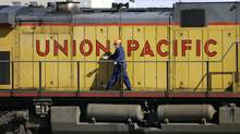 Union Pacific, which this year celebrates its 150th anniversary, is the first of the major U.S. railways to report quarterly results. (DAVID ZALUBOWSKI/ASSOCIATED PRESS/DAVID ZALUBOWSKI/ASSOCIATED PRESS)