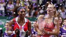 Serena Williams of the U.S. and Maria Sharapova of Russia (OSMAN ORSAL/REUTERS)