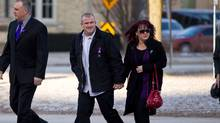 Rodney Stafford, father of slain Tori Stafford, arrives at the courthouse in London, Ontario March 5, 2011 on the first day of the trial for Michael Rafferty. (Geoff Robins/Geoff Robins/The Canadian Press)