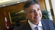 Ontario Finance Minister Charles Sousa is seen at his Queen's Park office on April 3, 2013. (KEVIN VAN PAASSEN/THE GLOBE AND MAIL)