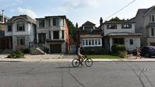 Detached homes along Soudan Ave. in Toronto. (Fred Lum/The Globe and Mail)