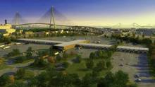 An illustration of the proposed New International Trade Crossing.