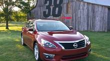 The 2013 Nissan Altima boasts best-in-segment 38 mpg highway fuel economy. (Nissan/Wieck)